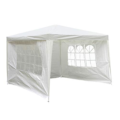 Charles Bentley 3m x 3m Gazebo/Tent Awning Wedding/Party Tent Showerproof White