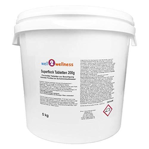 Pool Flockungsmittel Superflock Tabletten 5,0 kg - für kristallklares Wasser