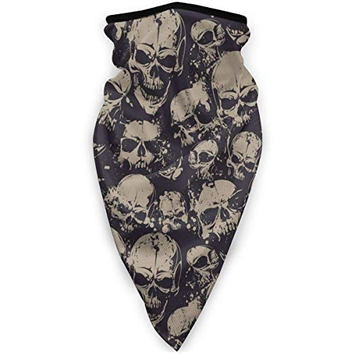 Not Applicable Headwear Face,Skull Grunge Scary Skulls Death Face Luxurious For Men Half Face Headwear,24x52cm