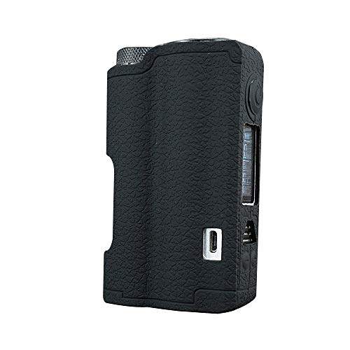 Dovpo Topside Case, DSC-Mart Texture Silicone Cover for DOVPO Topside 90W Squonk Mod Protective Sleeve Shield Wrap (Black)