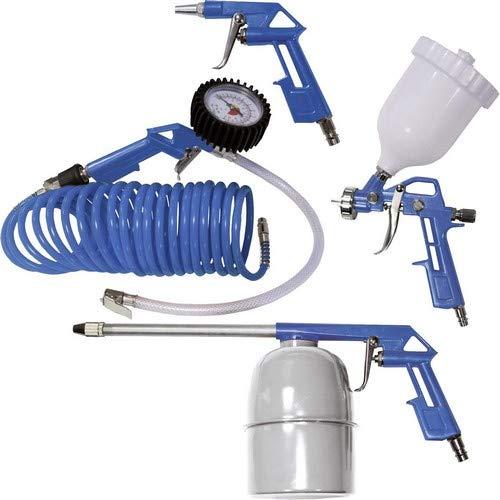 Scheppach 3906101704 Zubehör f.Kompressor 5tlg.Spiralschlauch Druck-Lackier-Sprüh- u. Luftdruckpistole