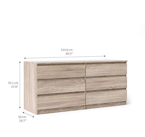 Tvilum Scottsdale 6 Drawer Double Dresser, Truffle
