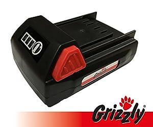 Grizzly Akku 18V, 1,5 Ah für Akku Heckenschere CH 1800, Akku Rasentrimmer CT 1800