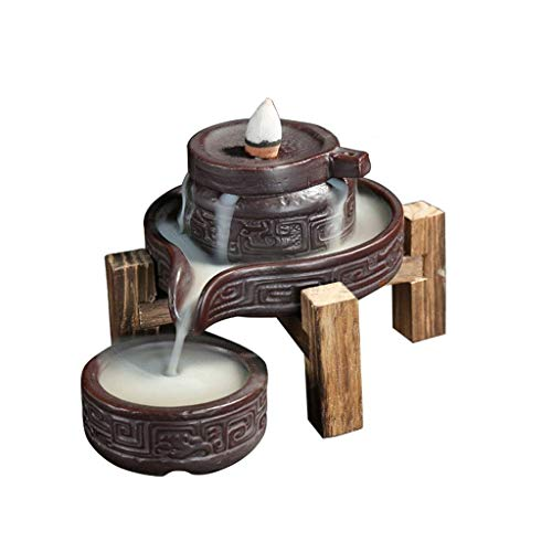 WYJBD Reflujo de cerámica Quemador de Incienso, Perfecto for el Yoga de Habitaciones, decoración del hogar y de los Regalos de artesanía