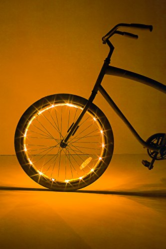 Brightz, Ltd. Wheel Brightz LED Bicycle Accessory Light (for 1 Wheel), Gold