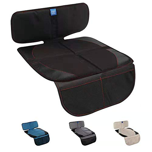 Funbliss Car Seat Protector for Baby Child Car Seats - Auto Seat Cover Mat for Under Carseat with...