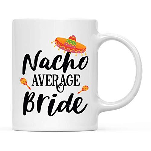 N / A Lustiges keramisches Kaffee-Tee-Becher-Knebel-Geschenk, durchschnittliche Nacho-Braut, Hut-Grafik, 1-Pack, Geburtstags Ideen