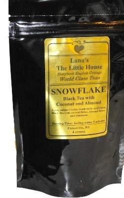 Lana's The Little House Snowflake Tea, Black Tea with Coconut & Almond Flakes, Loose Leaf Tea - 4 ounces