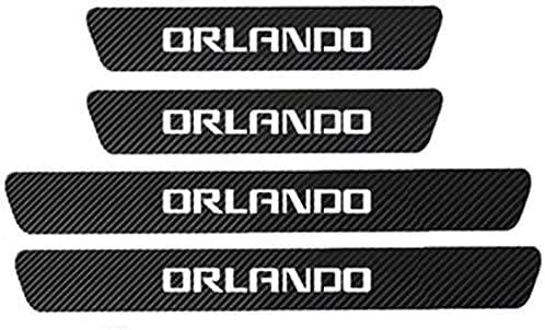 4 Piezas Coche Puerta TravesañO Etiqueta Engomada Para Chevrolet Orlando, Pedal De...