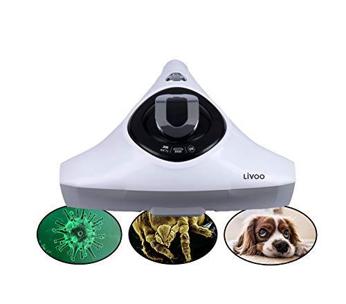 Aspirador de ácaros con luz UV y filtro HEPA para alérgicos, aspirador de mano (limpiador de pelo de animales, para colchones y aspiradores)