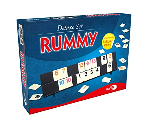 Noris 606101779 Rummy, Deluxe set, familiespel