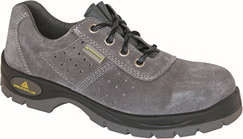 Delta plus calzado - Zapato perforada serraje gris poliuretano bidensidad s1 talla 45