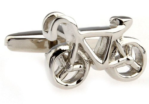 MRCUFF Bicycle Bike Cycling Cyclists Pair Cufflinks in a Presentation Gift Box & Polishing Cloth
