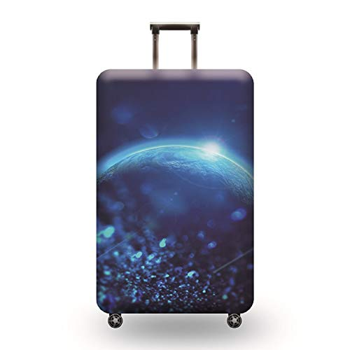 3D Suitcase Cover Earth Travel Trolley Case Cover Protector Suitcase Cover 29'-30' Trolley Case Luggage Storage Covers Size XL