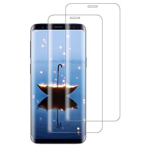 XSWO 2 Unidades Cristal Templado para Galaxy S8 Plus, Protector de Pantalla...