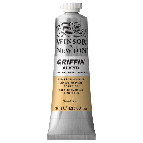 Winsor & Newton Griffin Alkyd - Tubo óleo de secado rápido, 37 ml, Tono Amarillo de Nápoles