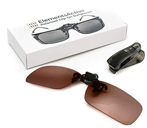 ElementsActive Polarized Clip-on Sunglasses