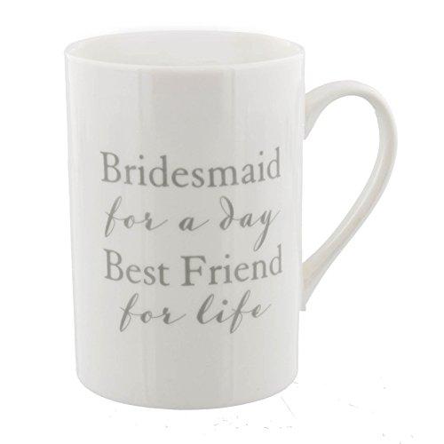 Tasse en porcelaine fine pour demoiselle d'honneur - Demoiselle d'honneur pour un jour meilleur ami pour la vie