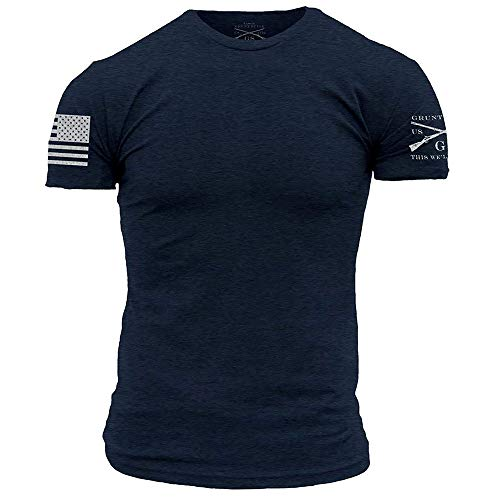 Grunt Style Basic Crew Men's T-Shirt, Color Midnight Navy, Size X-Large