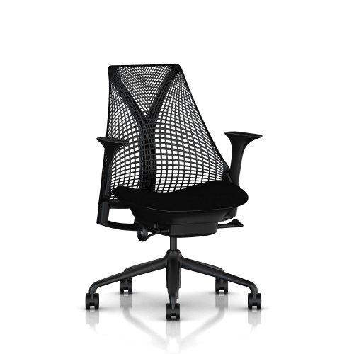 【正規品】 Herman Miller (ハーマンミラー) セイルチェア オフィスチェア ブラック/コスモス:ノアール BBキャスター 12年保証 AS1YA23HAN2BKBBBKBK9115