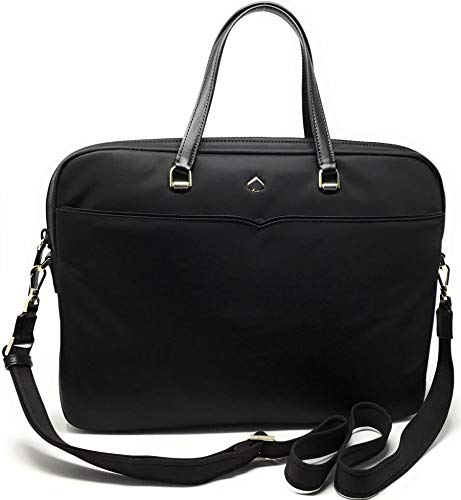 Kate Spade New York Laptop Tote Bag, Fits 15 Inch Laptop, Womens Lightweight Nylon Tote Bag Shoulder Bag (Black 2019)