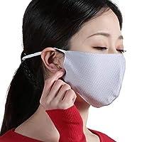 クローバーデポ マスク 3枚 接触冷感 アイスシルク 布マスク 夏用 洗えるマスク 個包装 布 クールマスク 大人用 子供用 女性用 uvカット 小さめ d2710081 グレー(3枚セット)