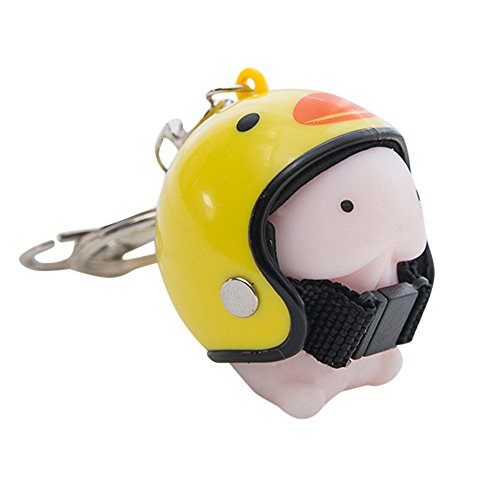 Dingding Toy Helmet Cute Keychain Squeeze Stress Reliever Prank Toy E Keychains Jewelry & Watches For Woman Valentine Easter Gift
