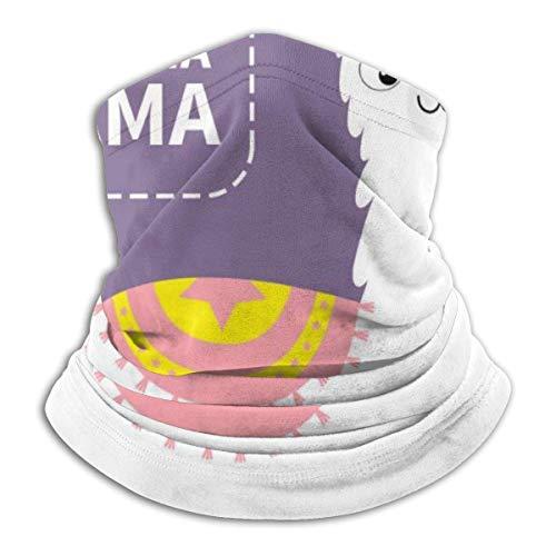 IZOU No Drama Lama Alpaka Tier Niedlich Cartoon Lustig Hals Gaiter Gesichtsmaske Multifunktions für Mann Frauen Jahreszeiten Magic Schal Bandana Sturmhaube