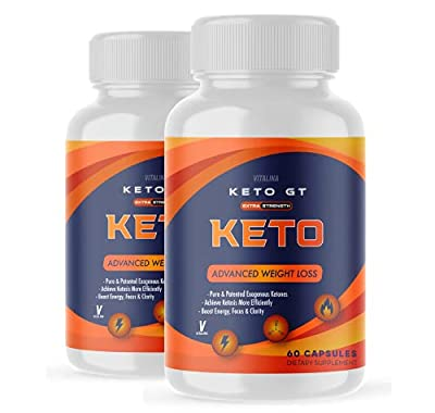 (2 Pack) Official Keto GT, BHB Ketones for Men and Women, 60 Day Supply