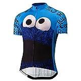 TMY Los Hombres del Verano de Dibujos Animados Divertido del Ciclismo Jersey Cookies Ojos Azules Grandes Bici de Ciclo de la Ropa de la Bicicleta Pro Racing triatlón MTB Jersey