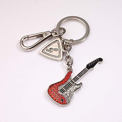 XHYKL gitaar sleutelhanger schattige sleutelhanger notitie sleutelhanger sleutelhanger