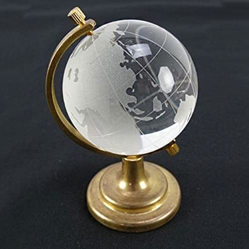 Creative decorative ornaments 40 * 65Mm Crystal Globe Desktop Creative decorative ornaments Home Furnishings Artificial Crystal World Map Decoration Crafts