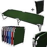 MagshionHunter Green Camping Folding Military Cot Outdoor + Free Storage Bag