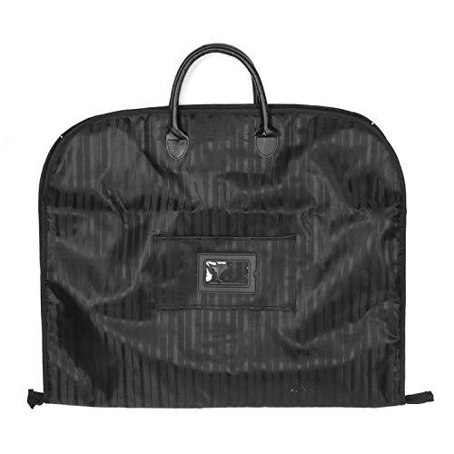 Bolsa de traje de negocios Placa de plástico incorporada Hebilla de hardware y hebilla D Negro/Azul marino Tela Oxford impermeable para viajes 100 x 60 cm(black)