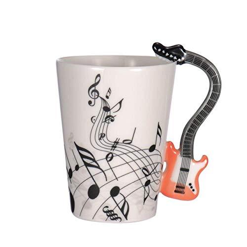 Kaffeetasse,Licht Rot Gitarre Form Klassische Musik Equipment Keramik Becher Kaffee Tee Milch Daube Becher Mit Griff Kaffeebecher Geschenke Für Hochzeit Geburtstag Weihnachten Ziemlich Coffee Mu