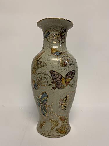 30.48 cm h Chinese Butterfly Satsuma Vase, handbemalt, Porzellan