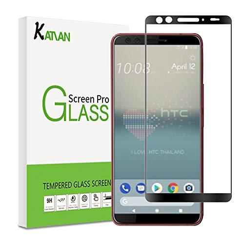 KATIAN HTC U12+ (Plus) Panzerglas Schutzfolie, 9H Panzerglasfolie Hartglas, Ultra-klar 3D Vollständige Abdeckung , 0,33mm, Anti-Kratzen Wasserdicht Bildschirmschutzfolie für HTC U12+ (Plus)
