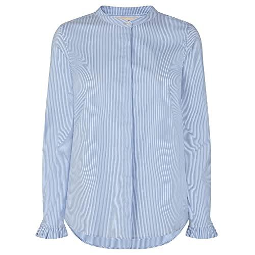 Mos Mosh Damen Bluse Mattie Two Stripe Shirt Bel air Blue hellblau - L
