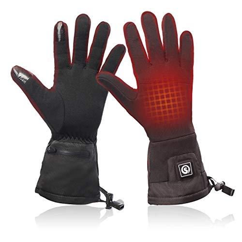 Heated Glove Liners for Men Women,Rechargeable Battery Motorcycle Ski Snow Warmer Mitten Glove Arthritis(XS/S)