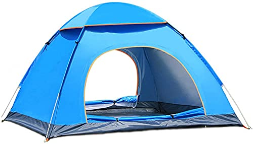 Holdfiturn Camping Tent Pop Up Tent 3-4 Person Hiking Tent Waterproof Family Tent