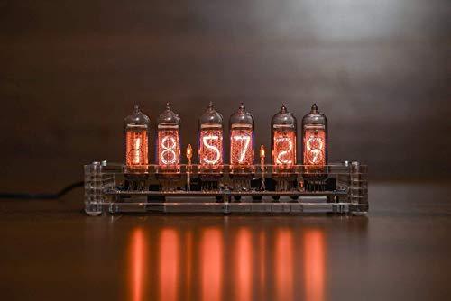 Nixie Tube Clock 6X IN-14 Desk Vintage Clock: Elegant Acrilyc Sturdiest Design