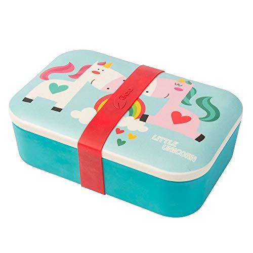 BIOZOYG Kinder Bento Lunchbox aus Bambus I Brotdose I Snack Box I Mädchen und Junge Motiv Brotbox – Einhorn für Kindergarten I Lunch Set to Go BPA frei und 100{5701460819917e877afe7aa38cd666e72d611f9d080053b2ee530dd9e92bf5a8} lebensmittelecht