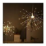 Cadena de luces LED solares con control remoto, fuegos artificiales Luces de jardín Iluminación decorativa 120/200 LED Alambre de cobre impermeable Iluminación de festivales para fiestas Decoración de