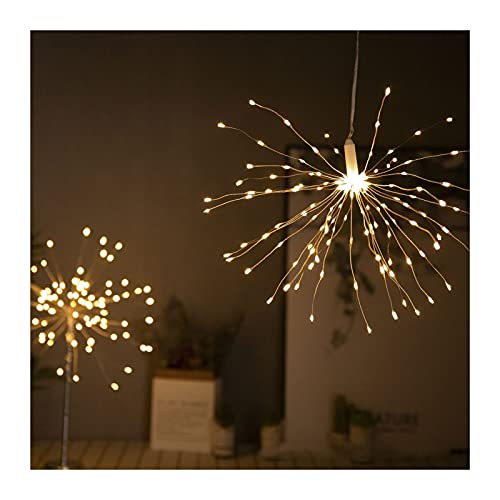Led Solar String Lights with Remote, Firework Garden Lights Decorative Lighting 120/200 LED Waterproof Copper Wire Festival Lighting for Parties Indoor Tree Decoration Festival Wedding Christmas