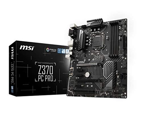 MSI PRO Series Intel 8th Gen LGA 1151 M.2 DVI HDMI USB 3.1 Gigabit LAN CFX ATX Motherboard (Z370 PC PRO)
