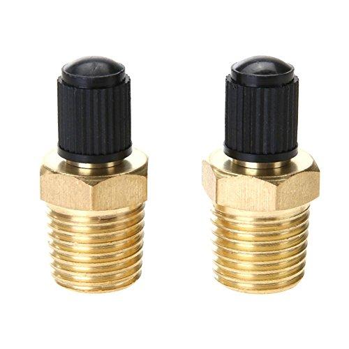 2pcs 1 / 4in Messing Reifen Luftkompressor Tank Füllventile für Dunlop Ventil