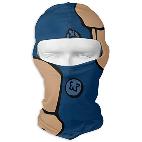 NOBRAND Full Face Masker Blueberry Muffins Hood Zonnebrandcrème Masker Dubbele Laag Koud Voor Mannen En Vrouwen