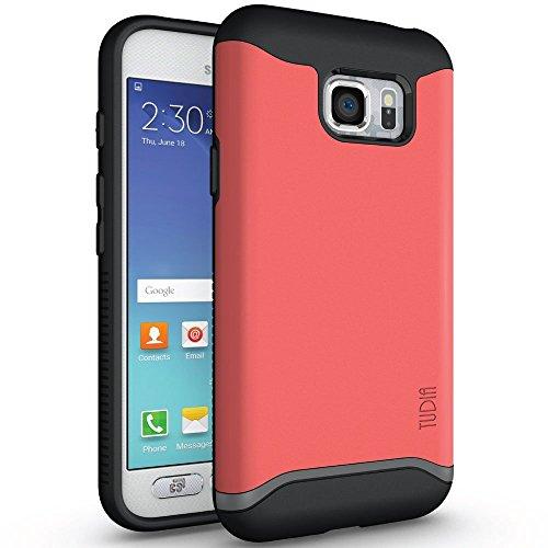 Samsung Galaxy S7 Active Hülle, TUDIA Slim-Fit Merge Dual Layer Schutzhülle für Samsung Galaxy S7 Active (Rose)