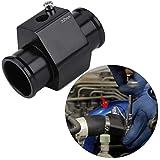 Kuuleyn Tubo de unión de temperatura del agua de aluminio, Adaptador de medidor de sensor de manguera de tubo de unión de temperatura del agua del coche de aleación(32mm)