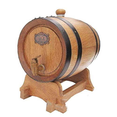 DEWFRE Eiche Horizontal Holzfass, 5L Baked Hochwertiges Holzfass for Whisky/Bier/Rotwein, Antik Farbe (Color : Wood Color, Size : 20L)